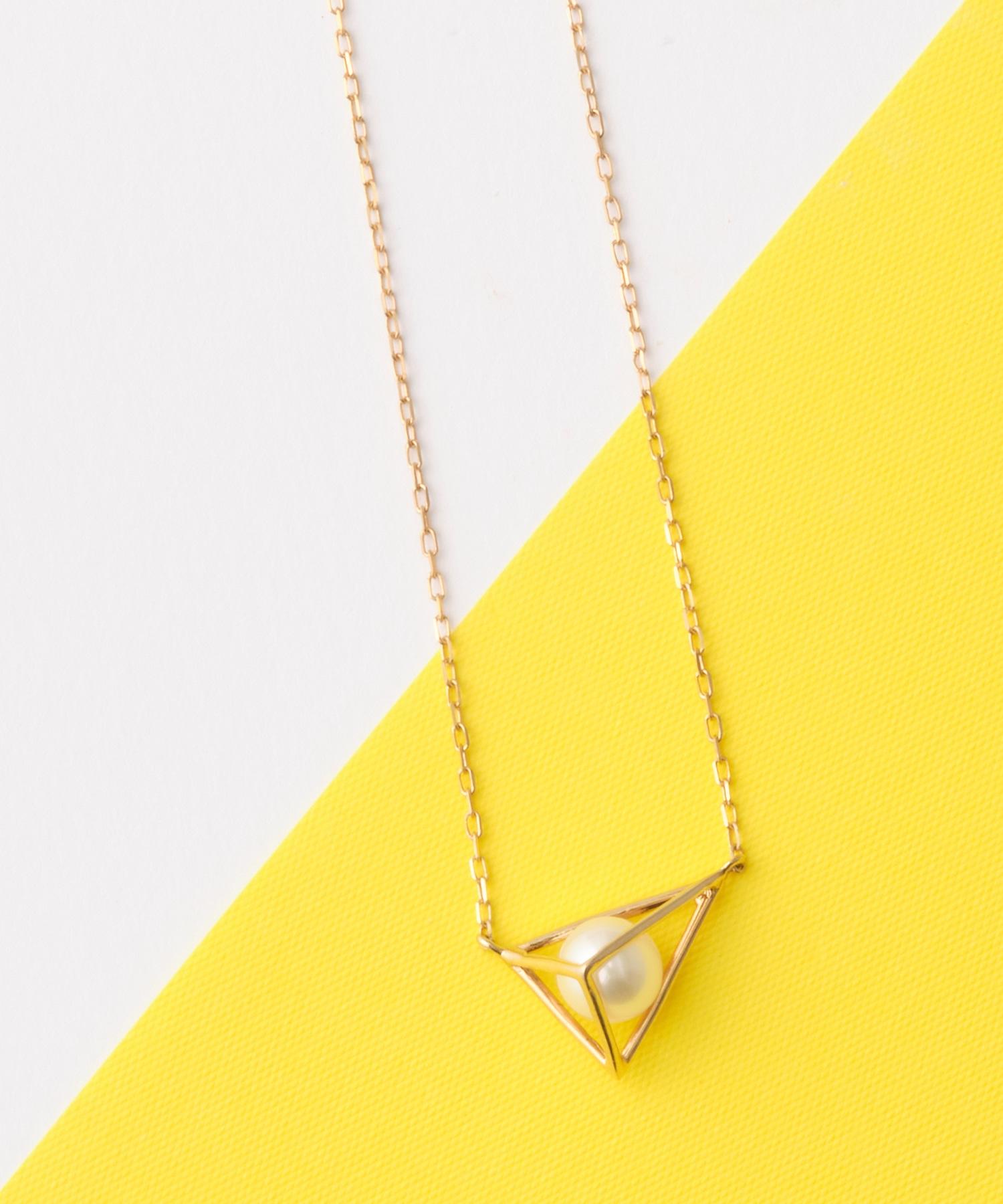 tetrahedron pearlネックレス