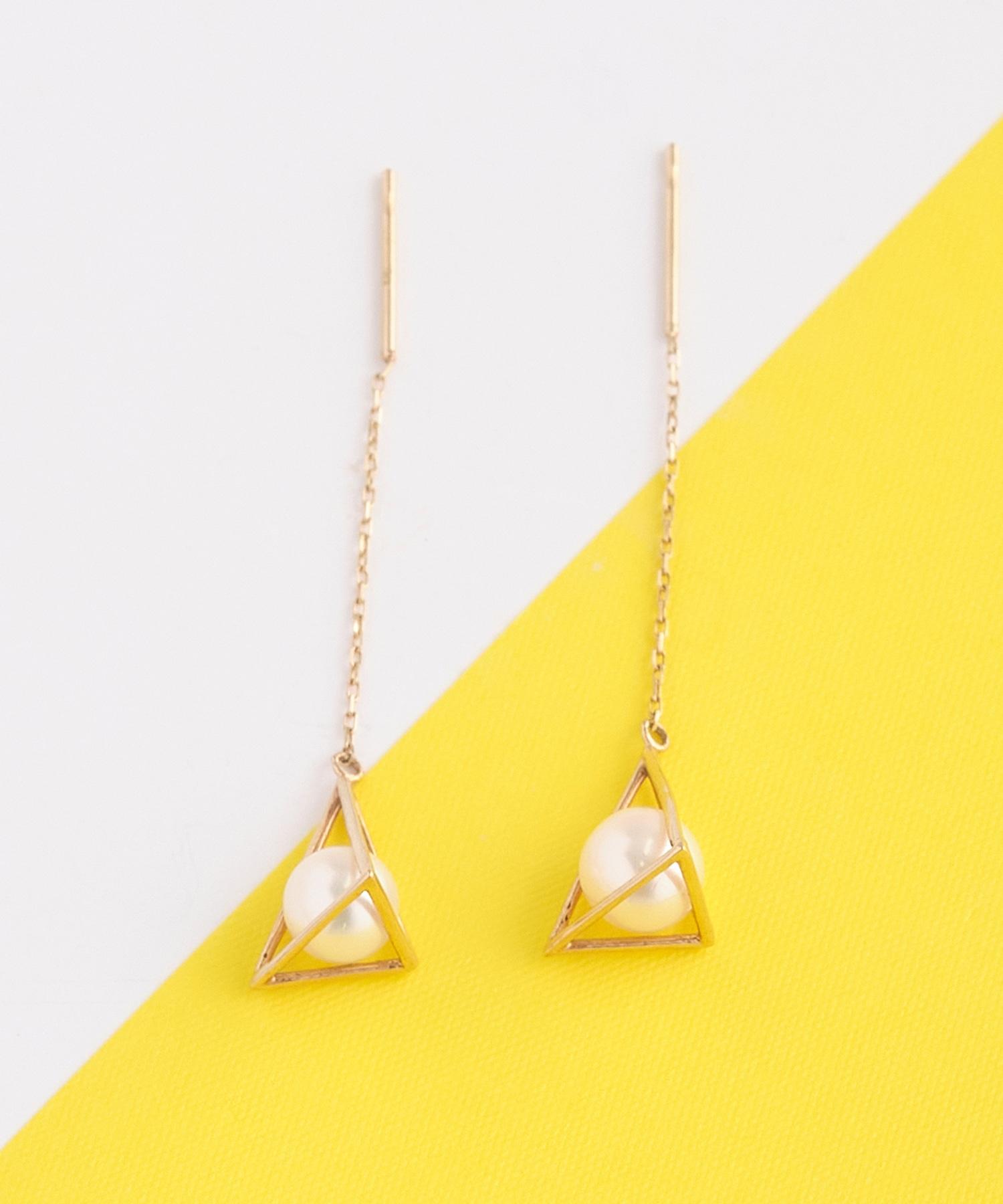 tetrahedron pearlピアス
