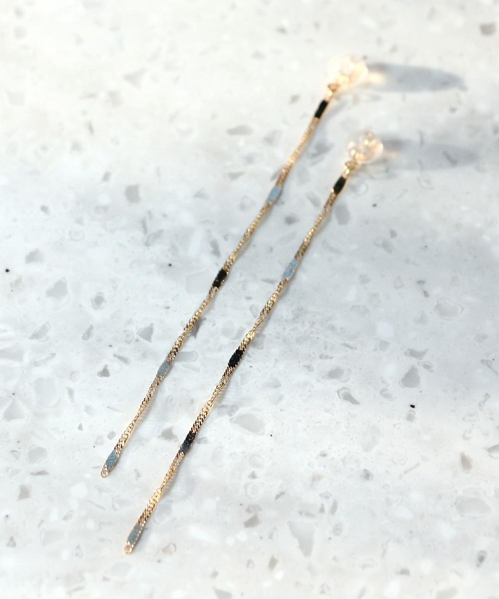 screw chain ピアスキャッチ(7cm)