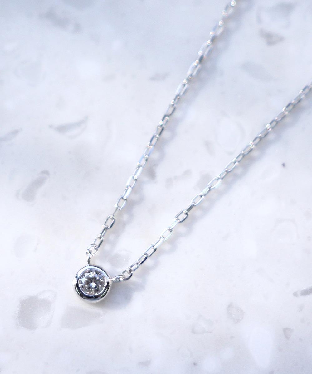 shining dewネックレス(K10WG)