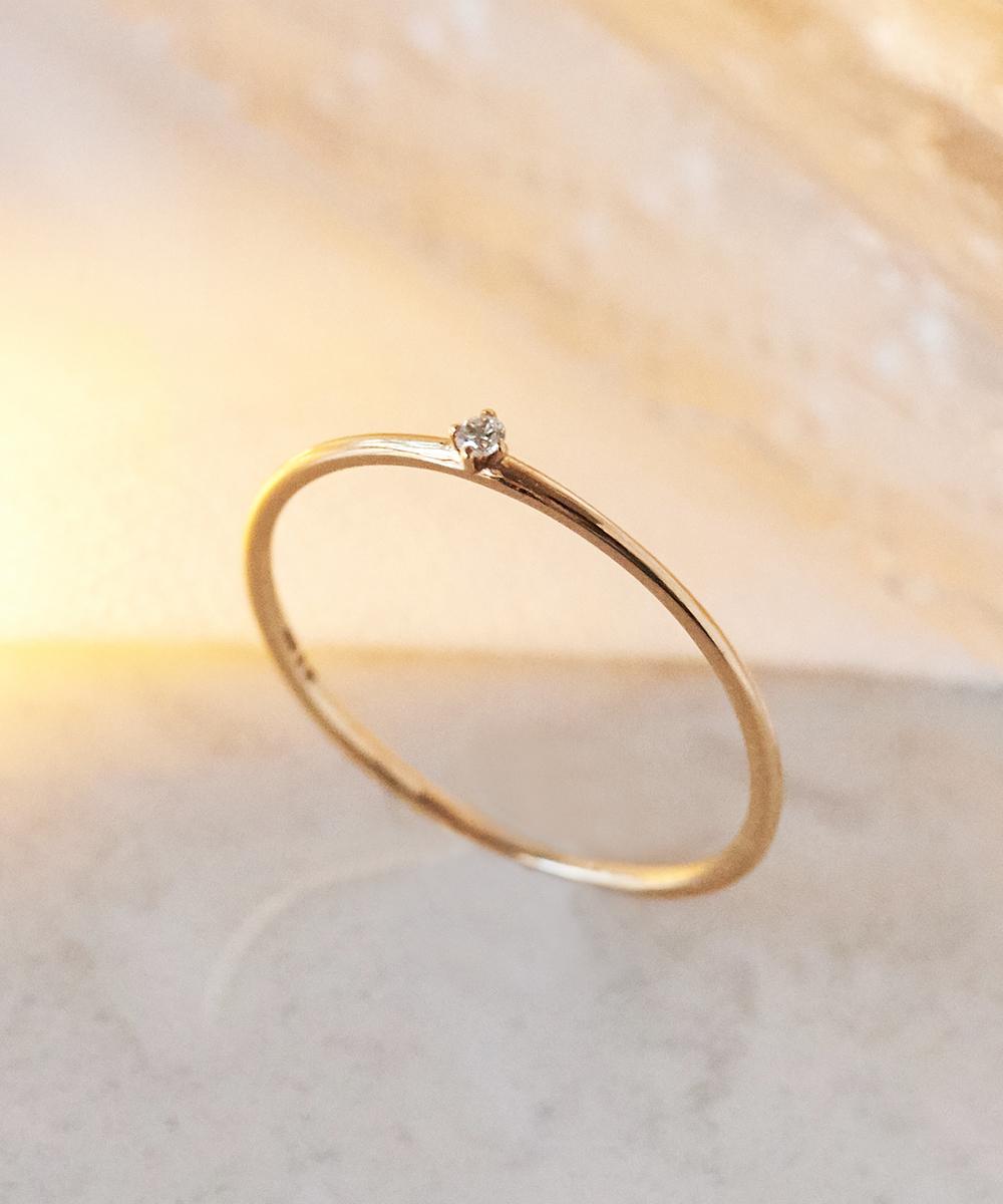 【K10】プチダイヤモンドリング