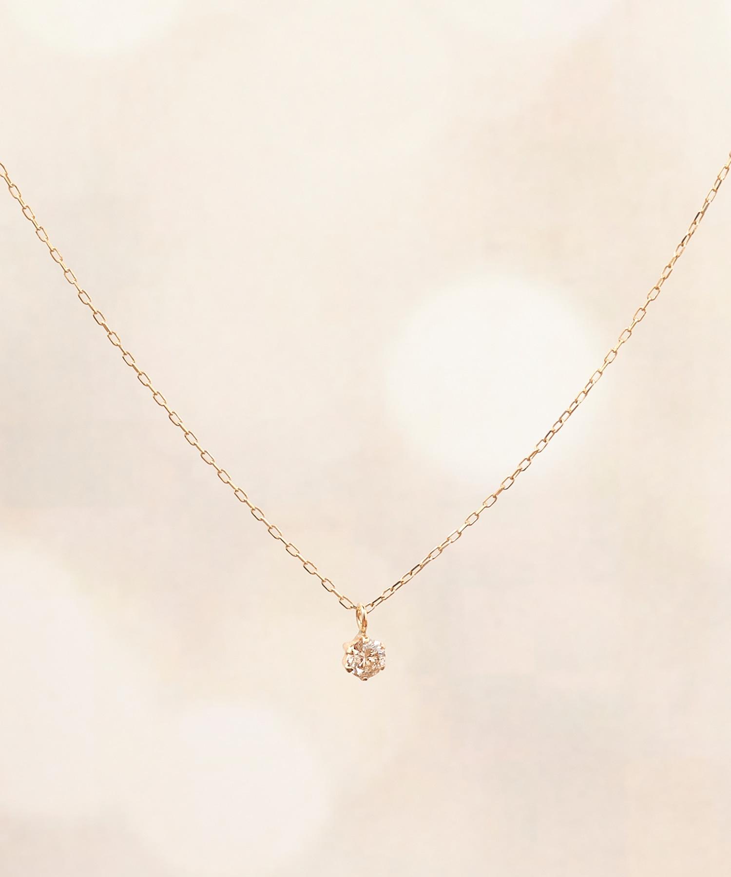 【K10】グラインダイヤモンドネックレス