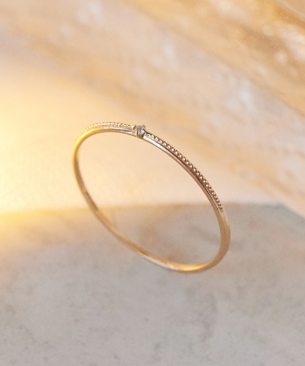 【K10】グリッターダイヤモンドリング