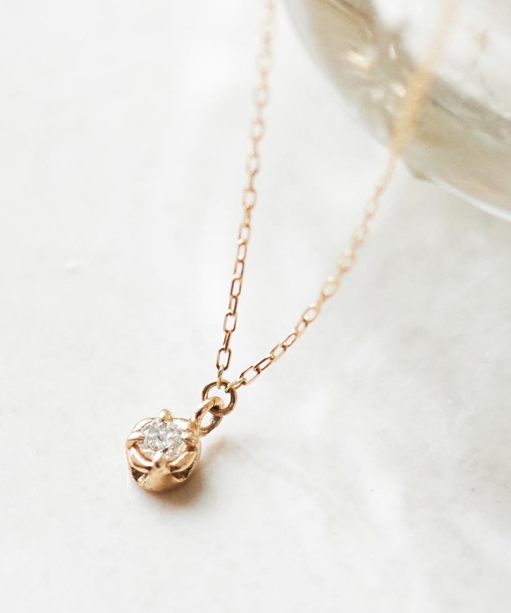 【K10】フィオーレダイヤモンドネックレス