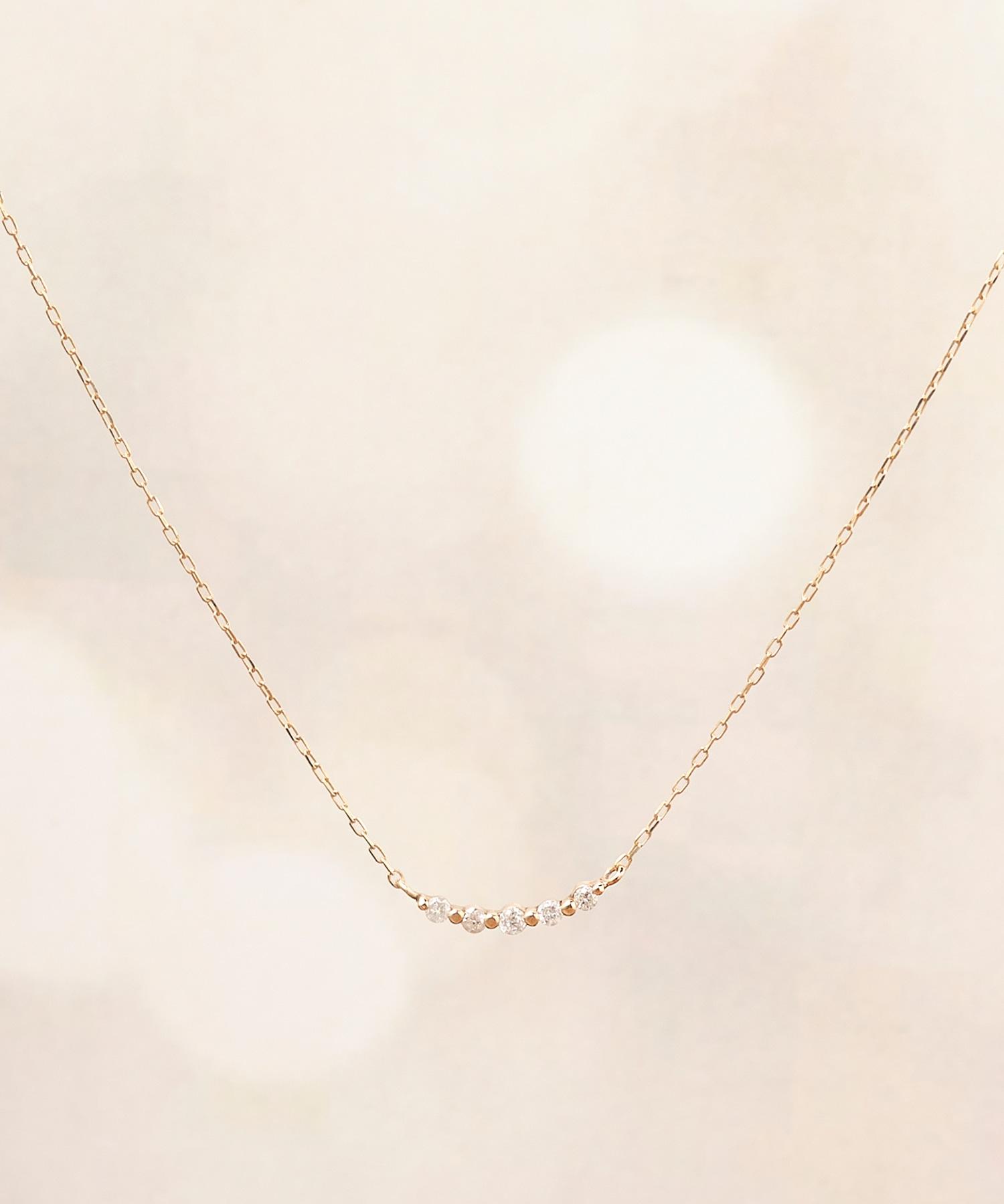 【K10】トゥウィンクルダイヤモンドネックレス