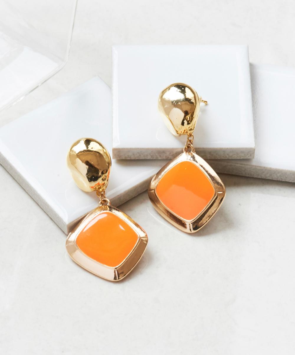 フレッシュメタルカラーピアス オレンジ