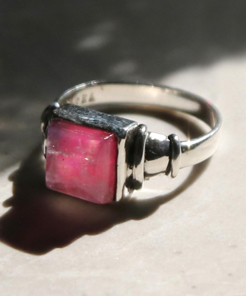natural stone リング (pink moon)