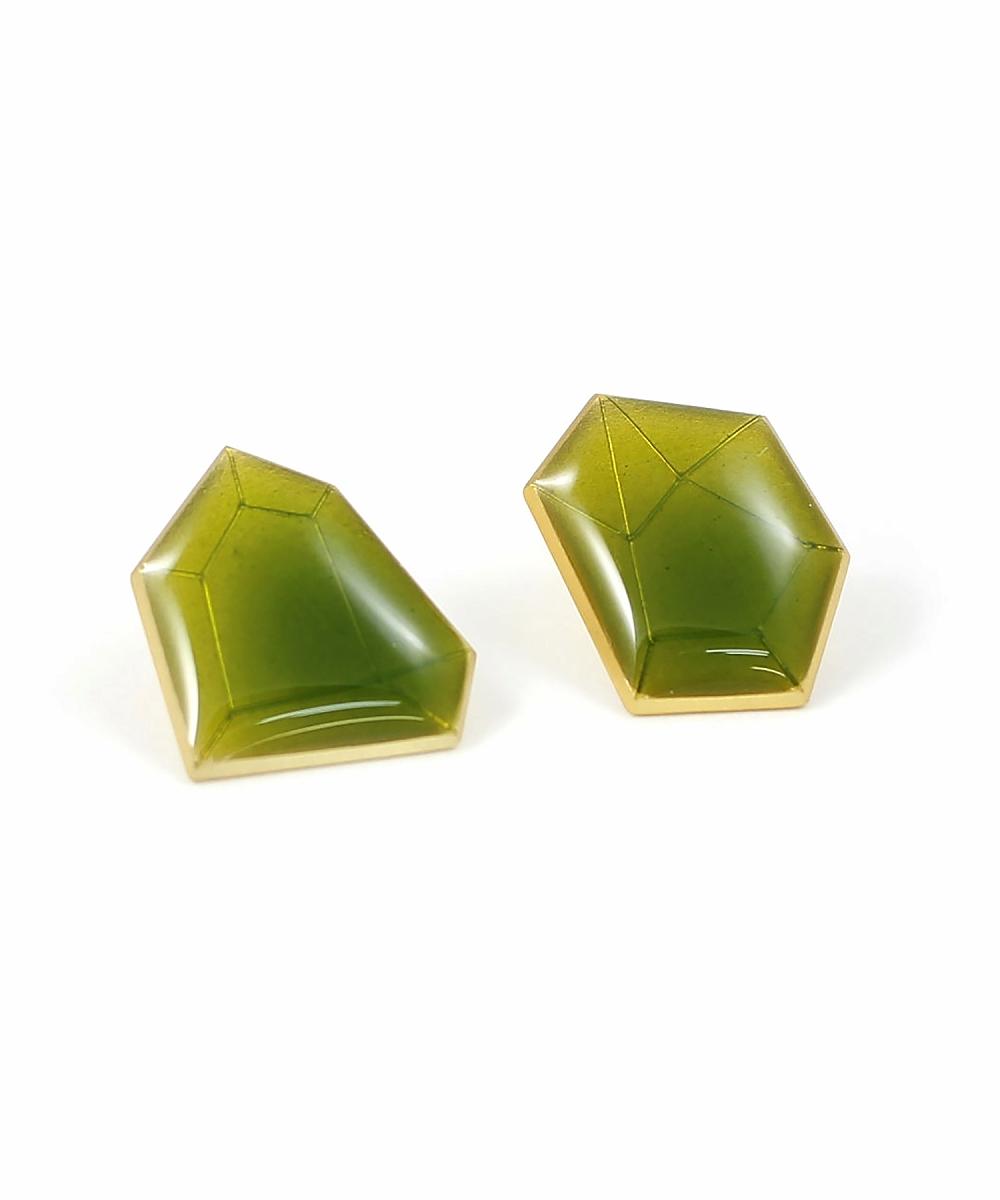 random cutピアス 1-green