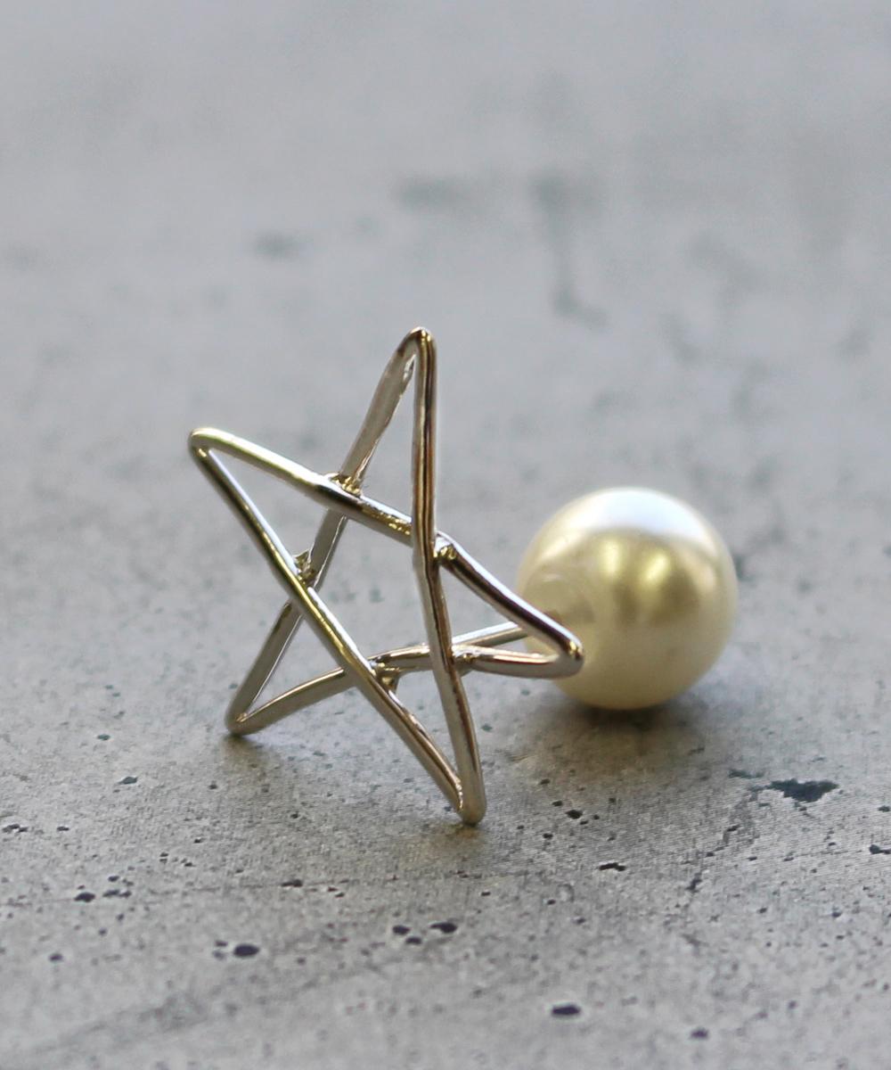 【予約】【片耳】star Mピアス SV
