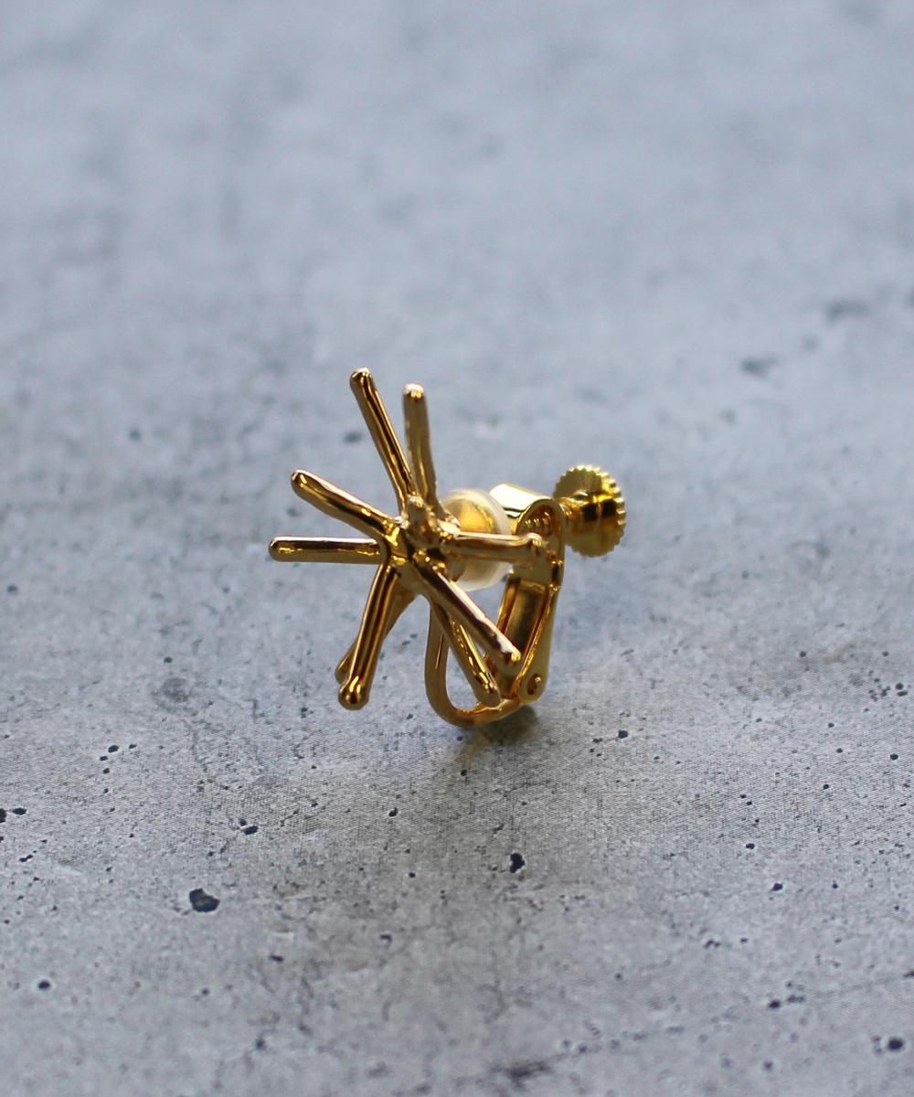 【予約】【片耳】spark Sイヤリング gold