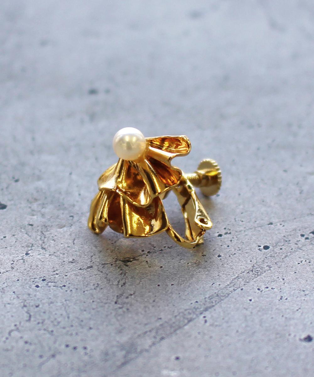 【予約】【片耳】Raffle Sイヤリング gold
