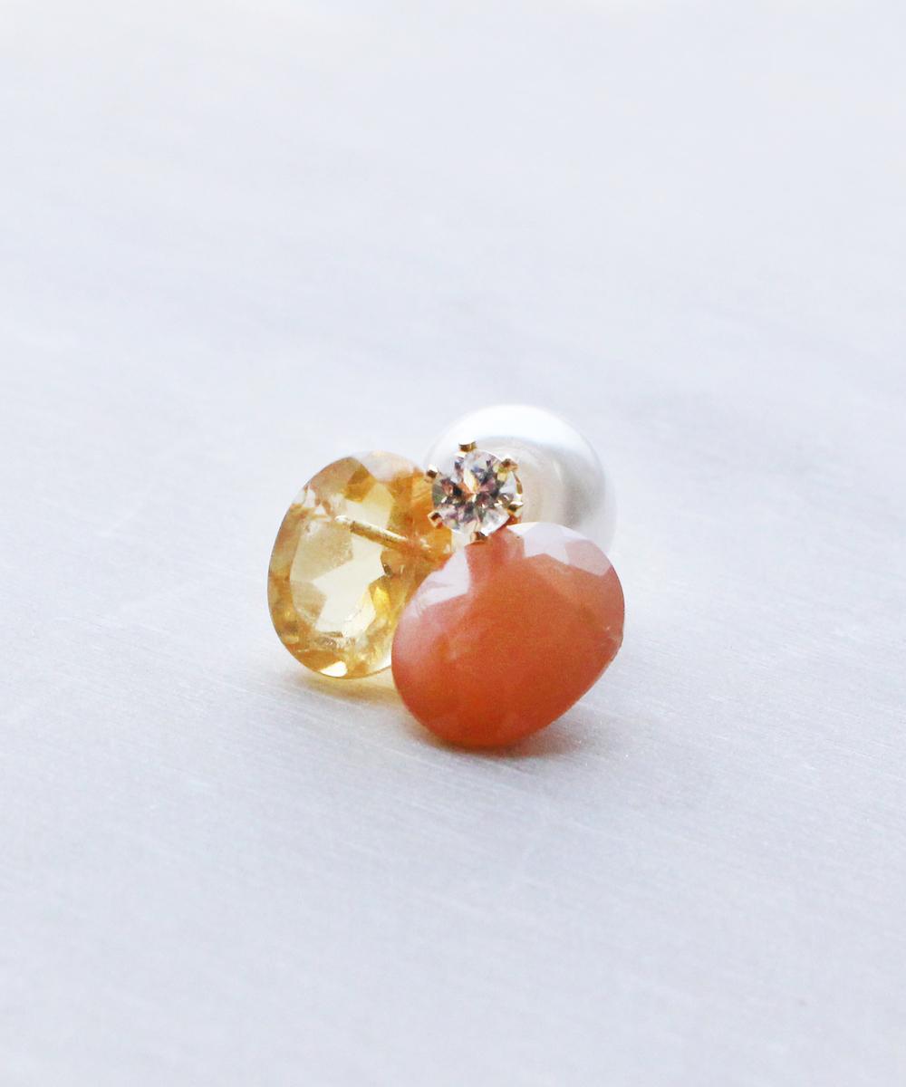 【K14GF】Orange moonピアス(片耳)