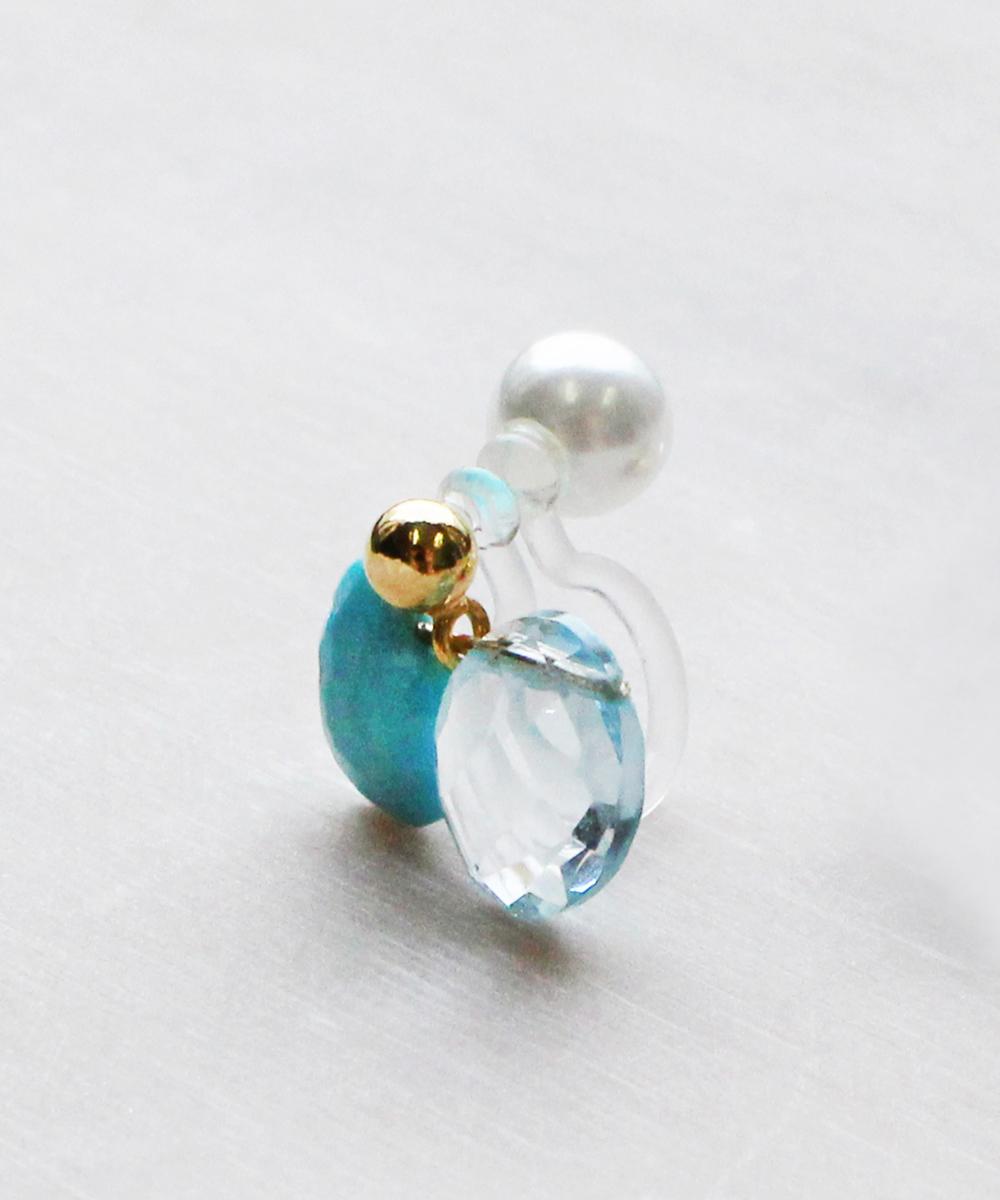 【K14GF】Turquoiseイヤリング(片耳)