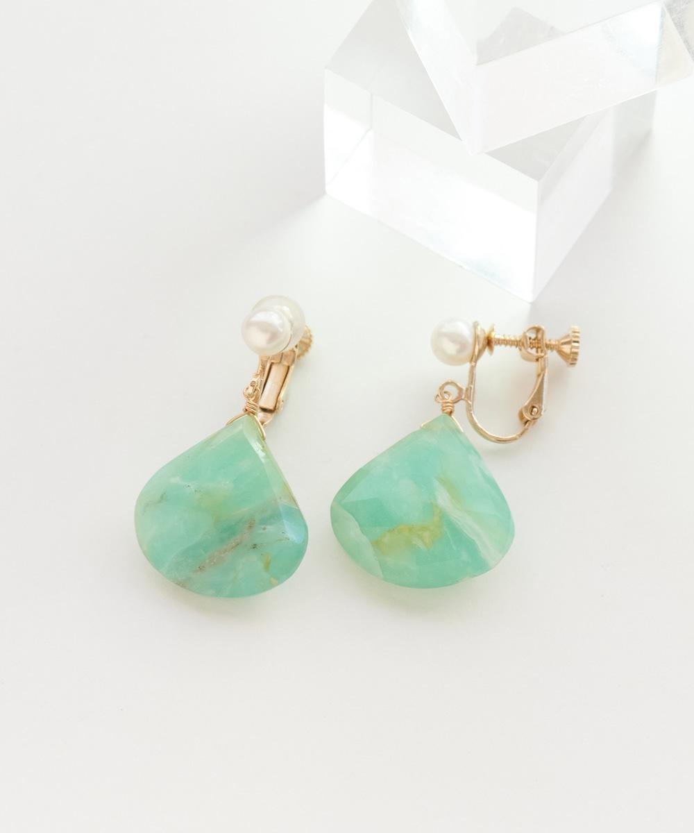【K14GF】Blue Opalイヤリング